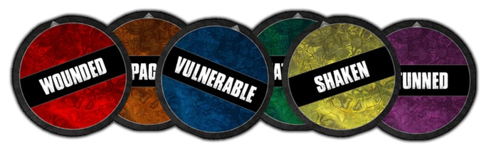 High quality cardboard Status Tokens for the Essentials boxed set!