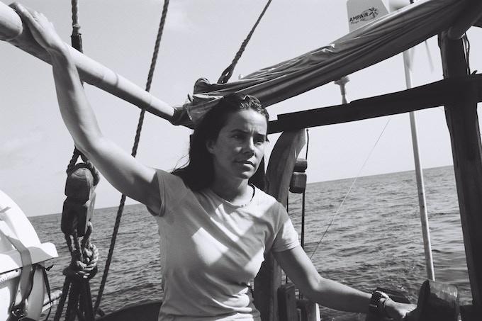 Danielle aboard The Borobudur Ship, Indian Ocean