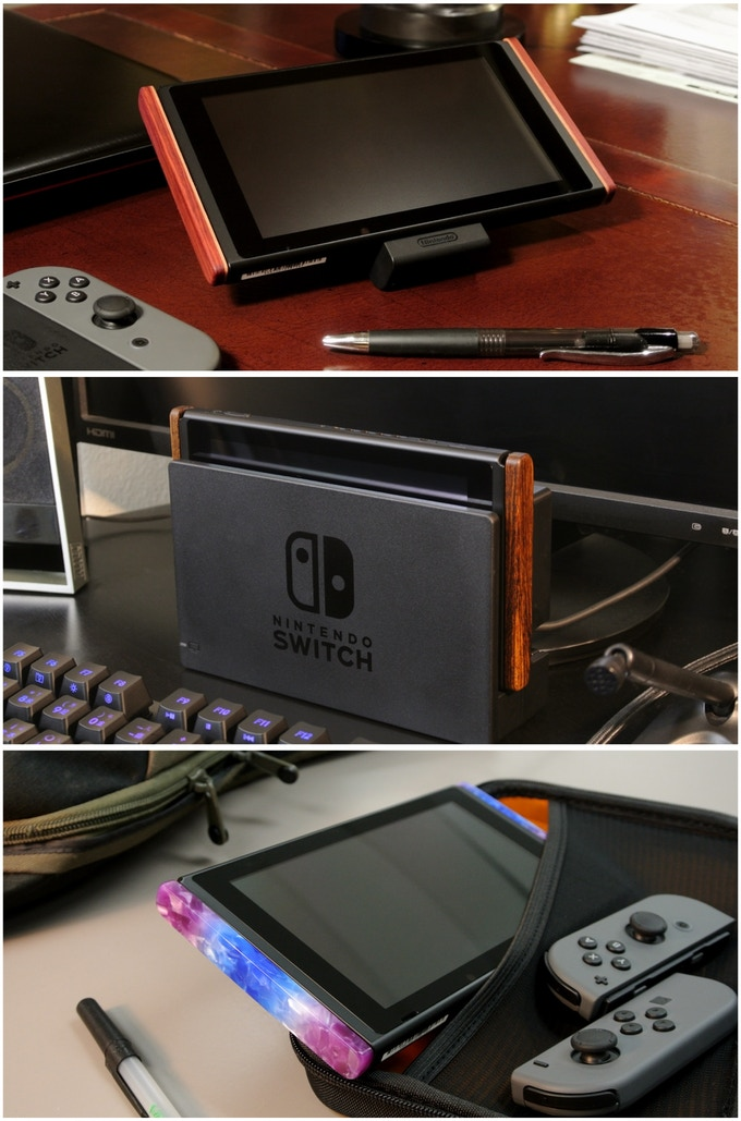Switchblades: Rail Cover & Kickstand for Nintendo Switch by