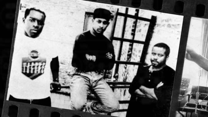 From left to right Kevin Saunderson, Derrick May, and Juan Atkins also known as the Belleville 3.