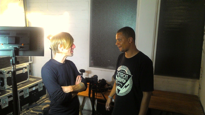 Pictured: DJ Richie Hawtin and director, Kristian Hill