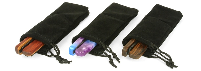 Every pair of Switchblades comes in a storage bag