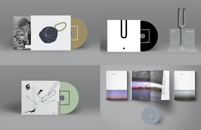 4 releases (clockwise): Akio Suzuki, Nicolas Bernier, Yann Novak, Ken Ikeda + Rie Nakajima + Makoto Oshiro