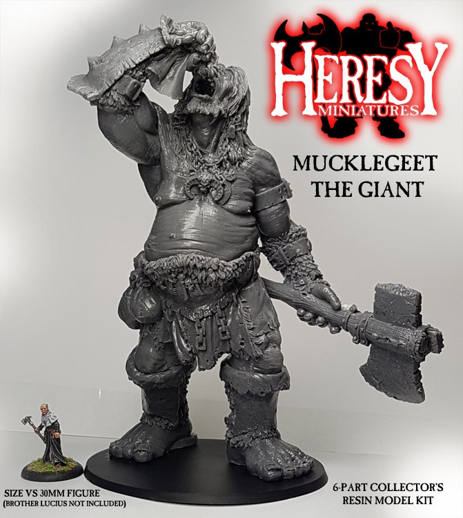 Andy really does love making ridiculously big models. Here's Mucklegeet the Giant from the last kickstarter, add him to your pledge for £110.00gbp