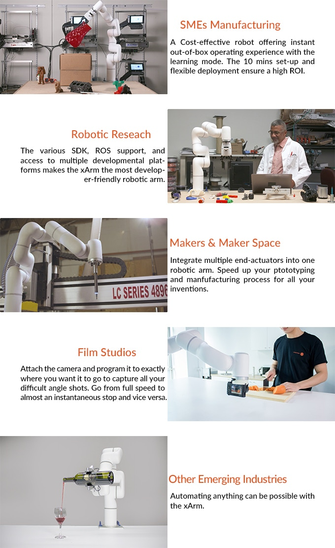 xArm – Most Cost-Effective Intuitive Industrial Robotic Arm