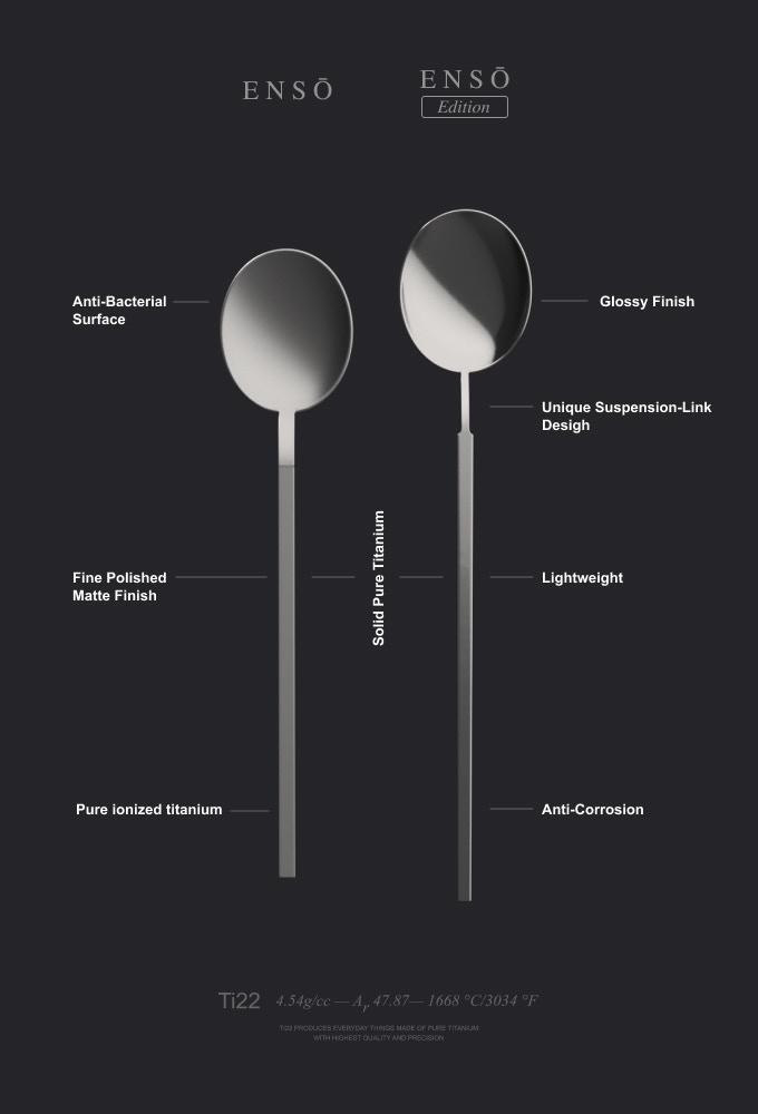 Ensō: Eco-Friendly Pure Titanium Cutlery, Chopsticks & Straw