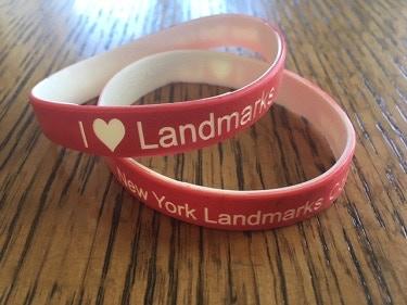 $10 – I ♥ Landmarks / New York Landmarks Conservancy wristband.