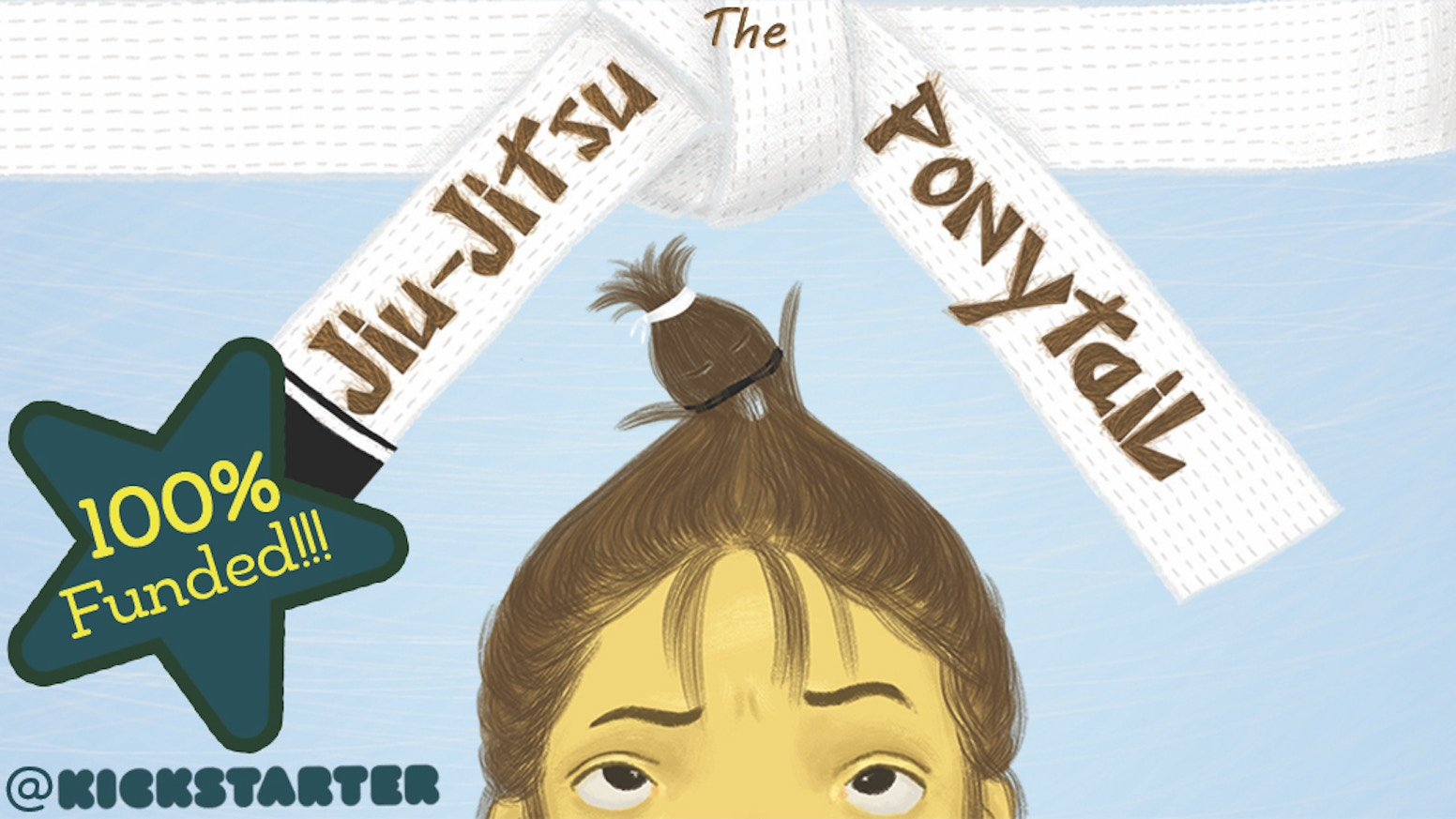 A beautifully illustrated children's book about a seven-year-old girl named Noor, her mischievous ponytail, and her Baba (dad)