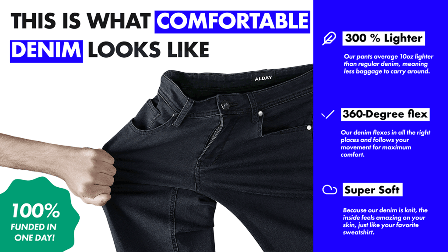 32b13495f6e5 We've combined the best features from both sweats and denim to create a  super