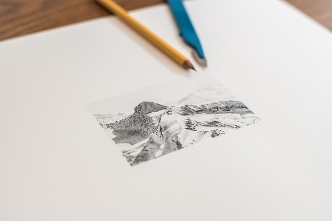 Grunhorn drawing in progress