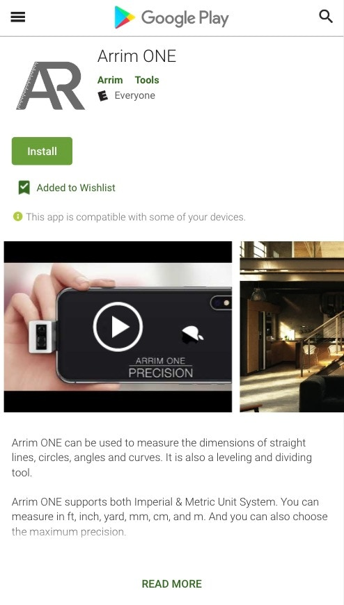 Arrim ONE: World's First Professional AR Measuring Device by