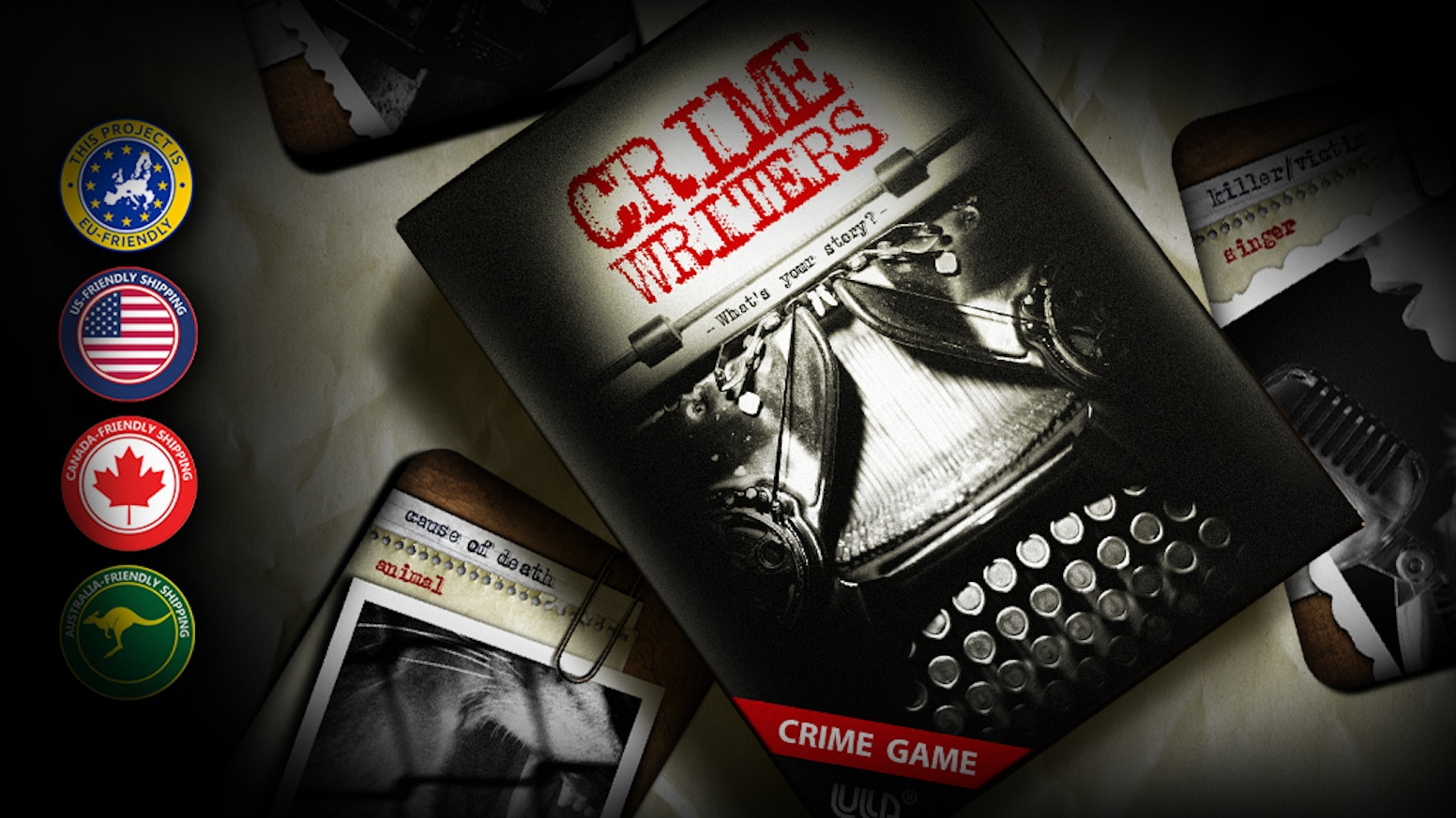 CRIME WRITERS - creative deduction and storybuilding game by