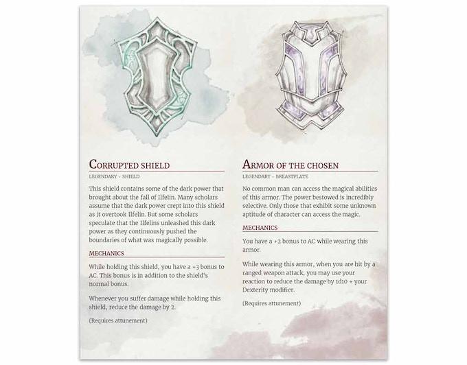 Sample design for backer compendium PDF