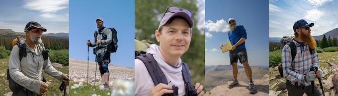 The hikers:  Steve Kaiser, Matt Favero, Joe Valesko, Benny Braden, Will Wood