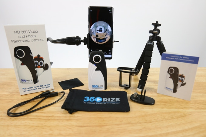 360Penguin Kits with all mounting Accessories.  Action Camera Mount and Live Streaming Mount