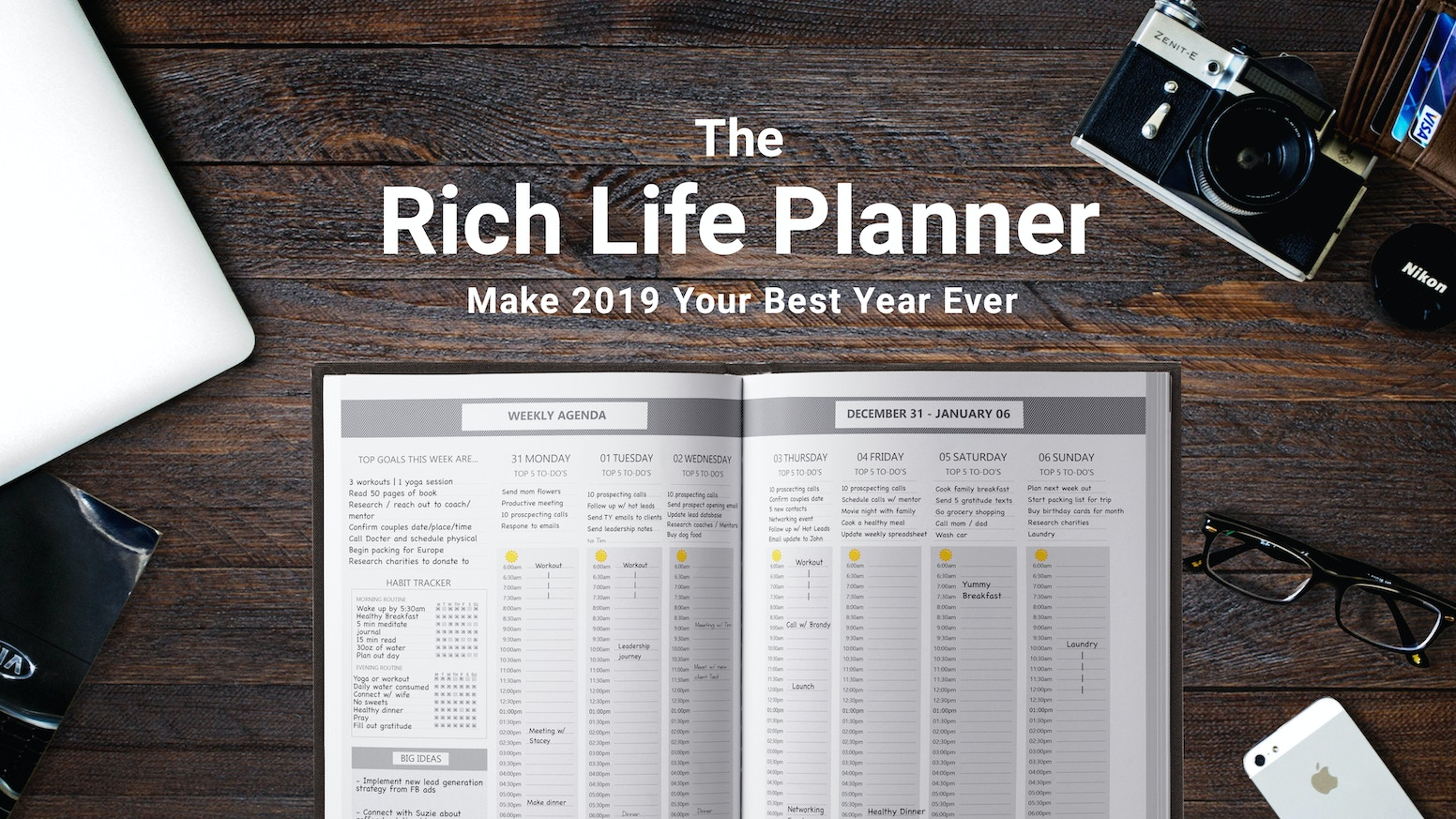 An annual planner that helps you dream bigger, plan better, and unlock a more rich and fulfilling life.