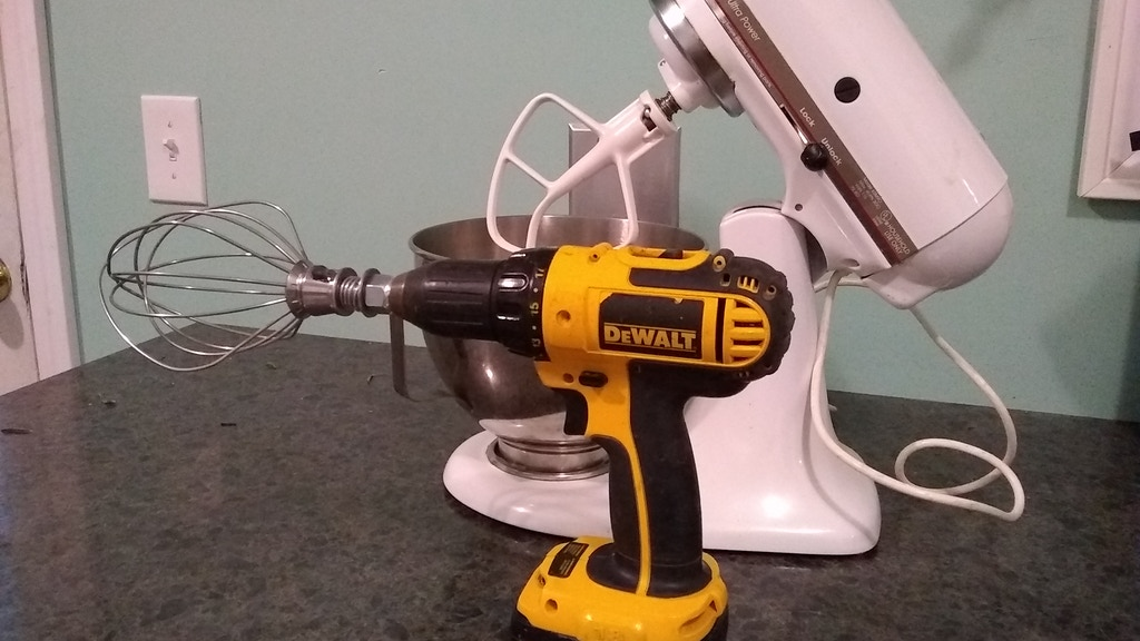 The Manly Mixer, Turn Your Drill Into a Kitchen Mixer project video thumbnail