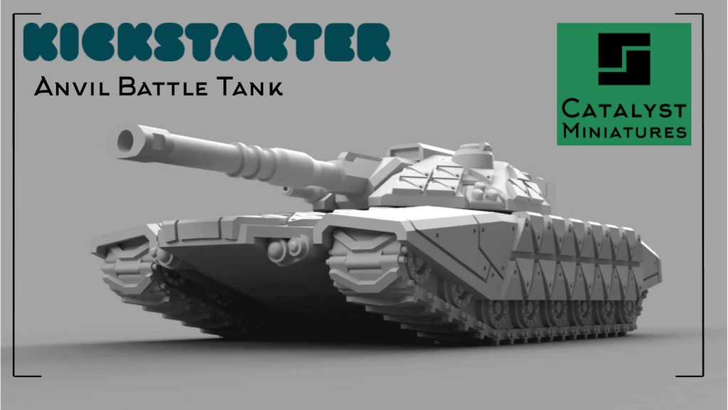 Anvil Battle Tank - a 1:100 scale resin tank miniature project video thumbnail