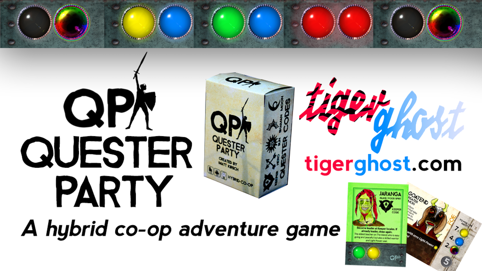Quester Party: A hybrid cooperative game of adventure by