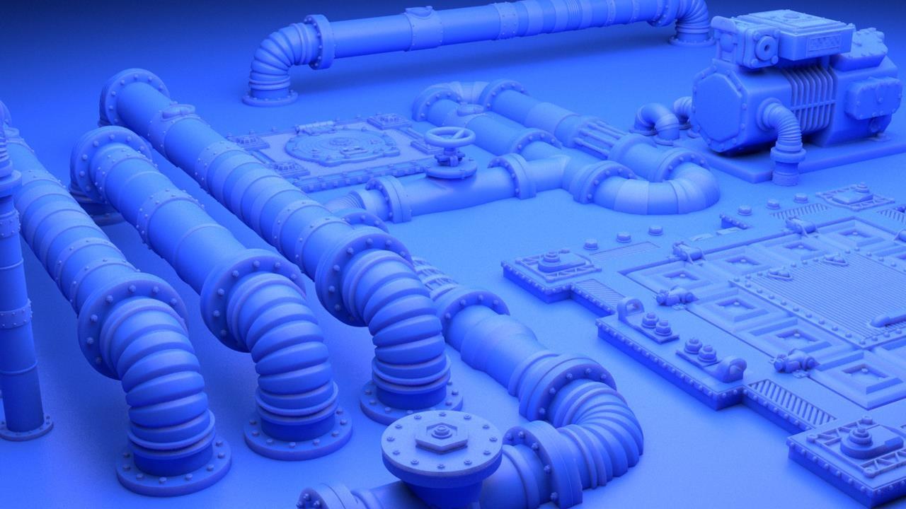 Urban & Industrial 3D Printable Models Sets