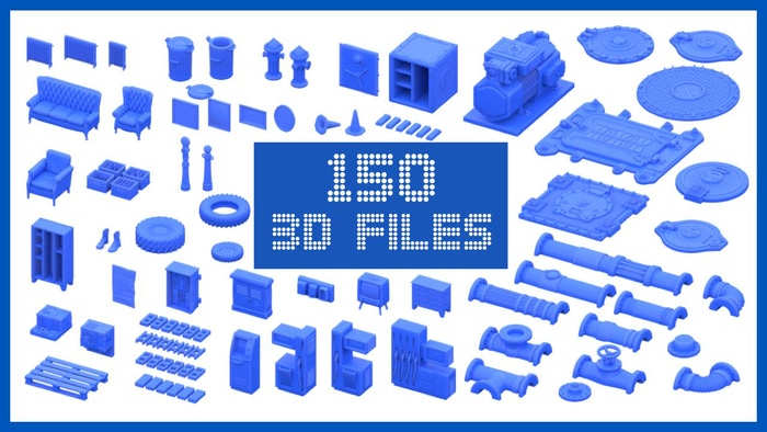 3D printable detail sets for wargaming, terrain and other tabletop games. STL files. 28-32mm scale ready. Fully scalable.