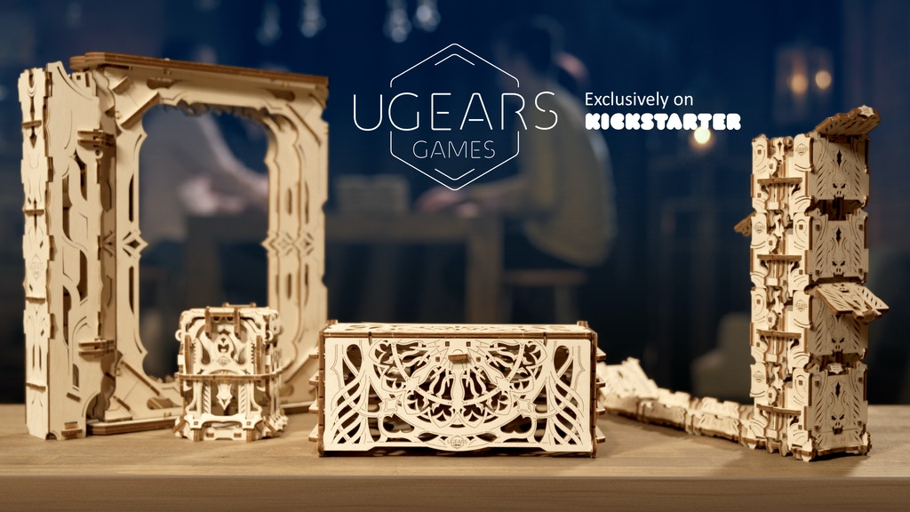 UGEARS Games: Unique Mechanical Devices for Tabletop Games project video thumbnail