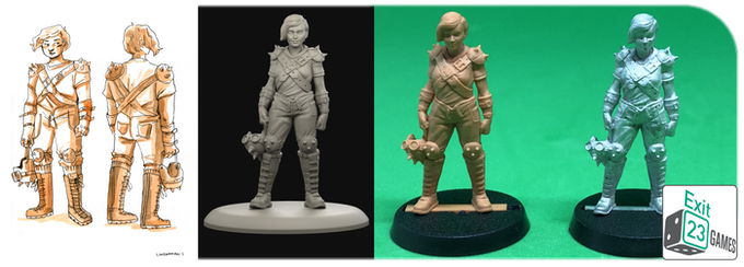 From concept art to digital sculpting, 3d printing and metal mastering.