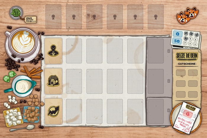 """First, we are pleased to present the final art for the """"woodtisch"""" play mat."""