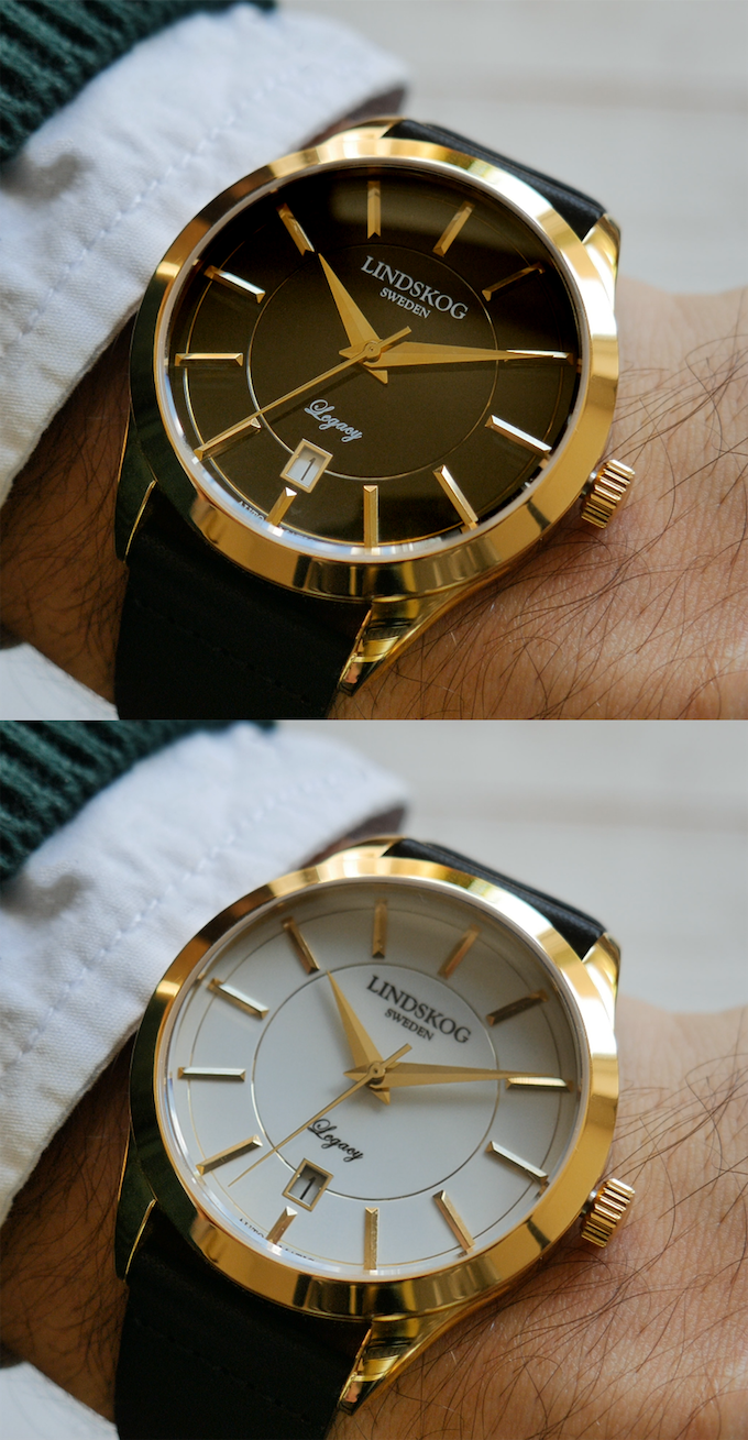 Gold - Black/White Dial
