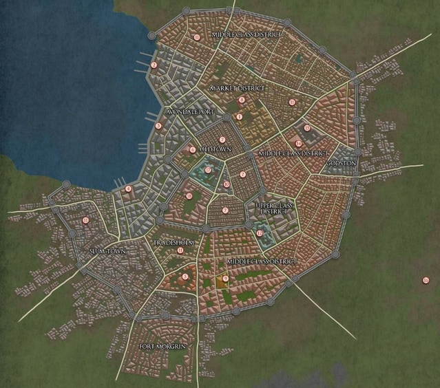 Map of Avondale city