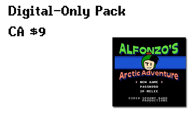 The NES ROM for Alfonzo's Arctic Adventure along with a PDF of the instruction manual.