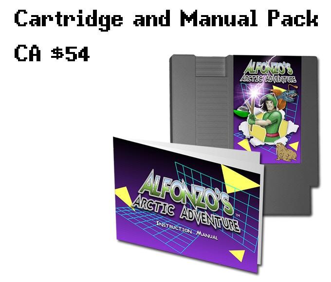 Both the game cartridge and manual, no box.