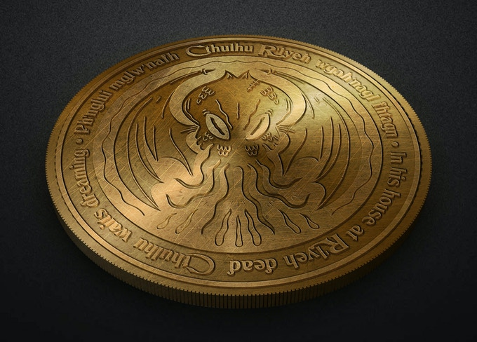 The coins feature raised text and borders with the artwork recessed in the middle to make it pop!