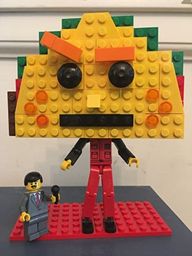 Custom PUNK TACO LEGO. This is an image of a rough prototype. This is not the finished product.