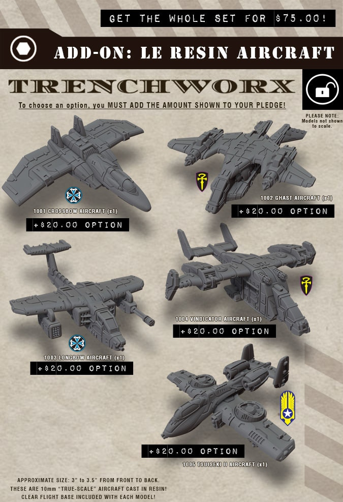 Limited Edition Resin CAV: Strike Ops Aircraft! Available seperately or as a set of FIVE (one each)!