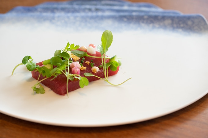 KST exclusive Seashore plate, dished up by chef Seita