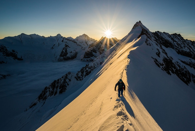 Aletschhorn at sunrise