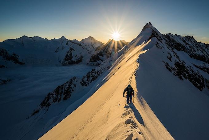Aletschhorn at sunrise