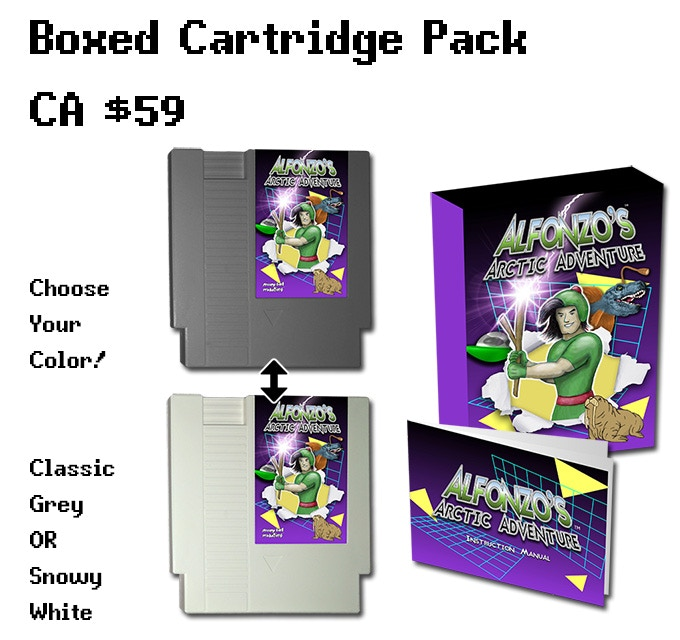 "The standard, boxed edition of the game. Includes the game, sleeve, box, and manual. Choose between ""Classic Grey"" and the Kickstarter-exclusive ""Snowy White"", available only at this tier!"