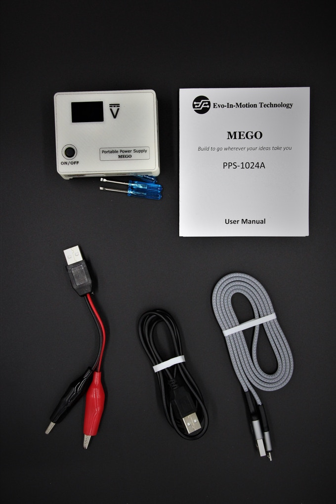 The basic package, you have a MEGO and the cables needed