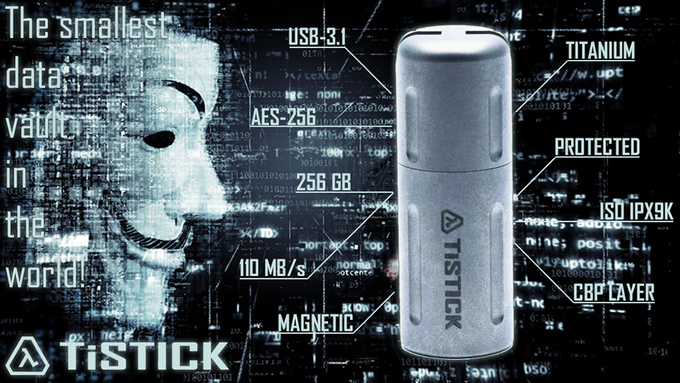 "TiSTICK - ""The smallest data vault in the world!"""