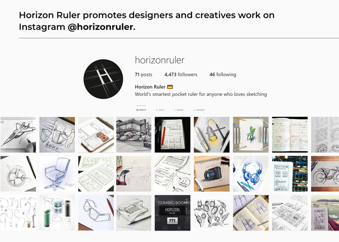 Horizon Ruler honours design, creativity and inspiration. Join our community!
