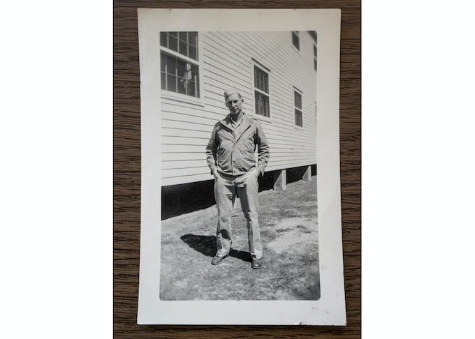 Sgt Silvio J Pedri at Camp Swift, 1944