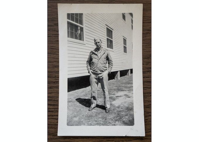 Sgt Silvio J Pedri at Camp Swift, 1944