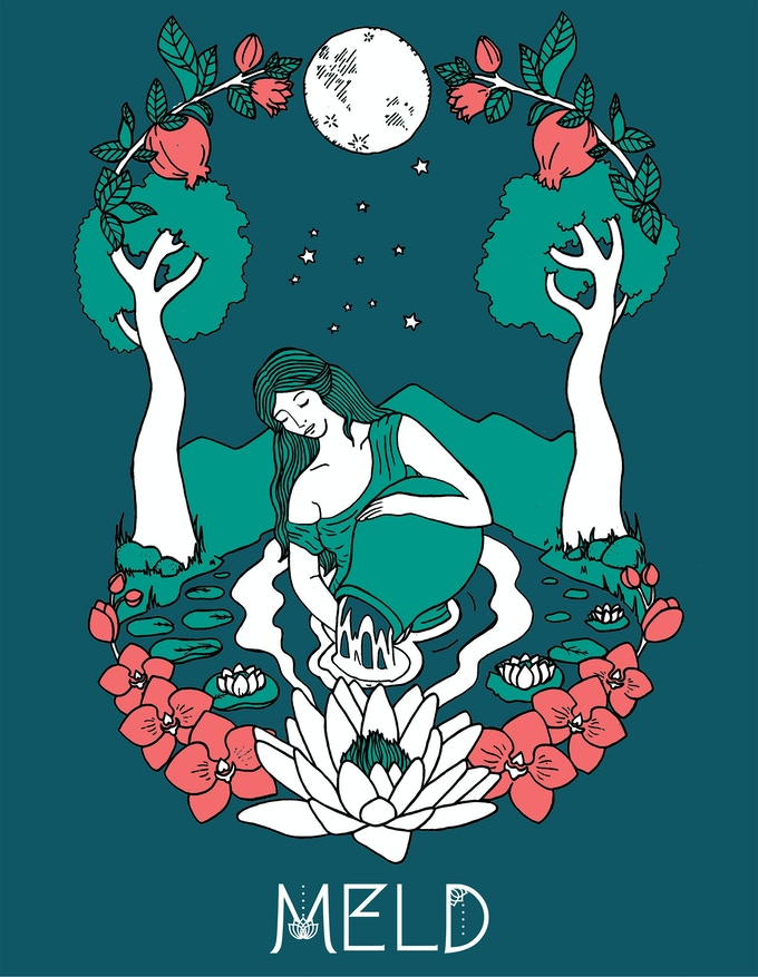 """MELD """"Water"""" T-shirt Design by Miranda Arbor - Specifically created for this Kickstarter! 15% of all proceeds of this shirt and poster will be donated to clean water charities."""