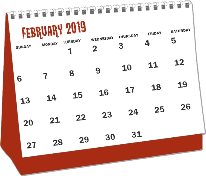 Rewards expected to fulfill February 2019