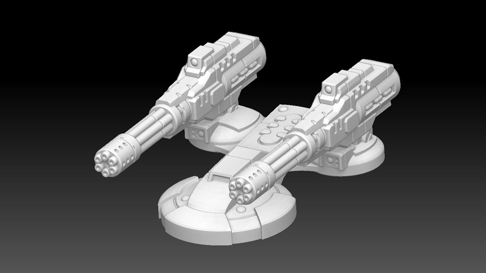 Sci-Fi Tank Turrets by Red Dog Minis — Kickstarter