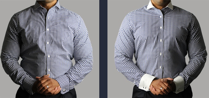 Swapping collar and cuffs creates a whole new look with the SAME SHIRT