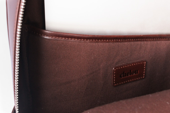 Interior laptop sleeve and cotton twill lining
