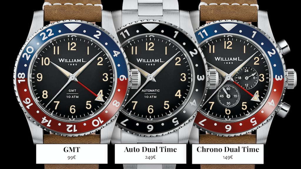 GMT, Chrono Dual Time and Automatic Watches - William L 1985 project video thumbnail